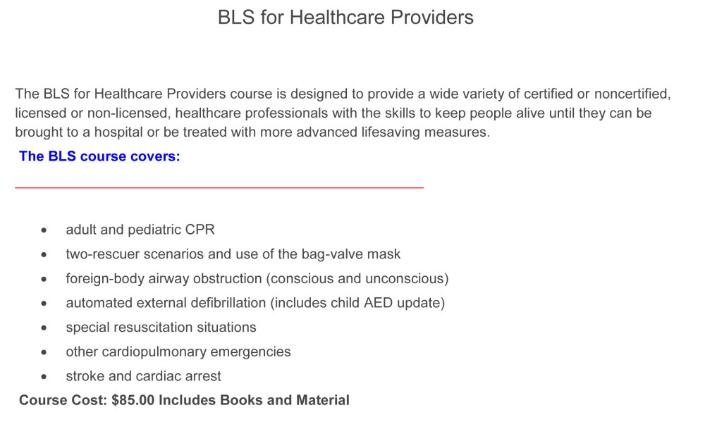 BLS-for-Healthcare-Providers