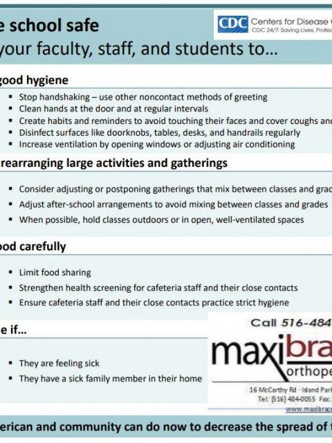 Coronavirus (COVID-19) pg2 Maxibrace.com 516.484.0055 cpr training aed cpr-aed@maxibrace.com